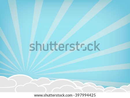 Vector cloud on blue background