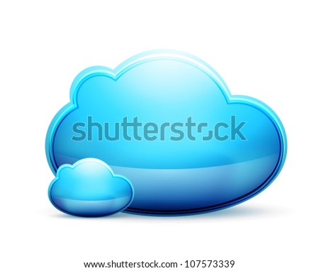 Vector cloud space conceptual icon