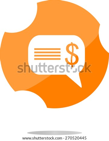 vector cloud with dollars usd sign icon. Briefcase button, flat vector web icon isolated on white - stock vector