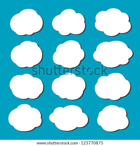 Vector clouds collection - stock vector