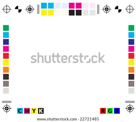vector CMYK Press Marks - copy space included - stock vector