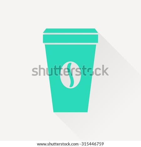 Vector coffee cup icon. Food icon. Eps10 - stock vector
