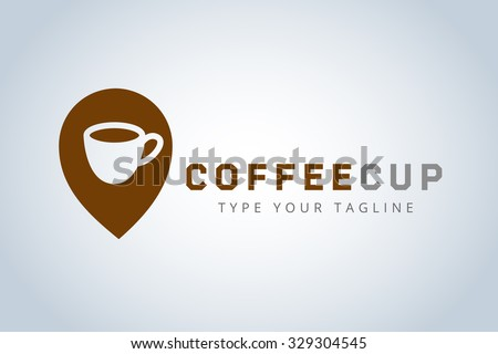 Vector coffee cup logo template. Business coffee, coffee break, coffee shop position, food and restaurant. Coffee shop icon, cafe, cup of tea. Coffee cup logo isolated. Coffee icon. Coffee logo icon - stock vector