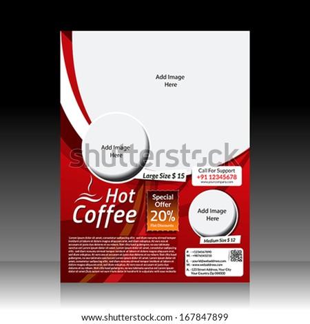 Vector Coffee Shop Flyer Vector illustration  - stock vector