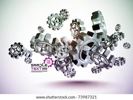 Vector Cogwheel - stock vector