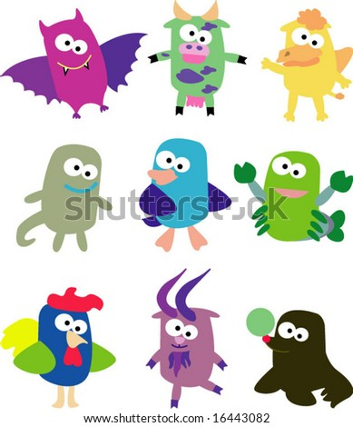 Vector collection of animals 09