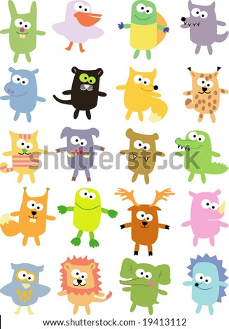vector collection of animals 35 - stock vector