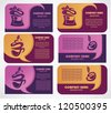 vector collection of business, discount and promotional cards, sweet, cakes and cafe - stock vector