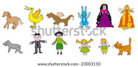 Vector Collection Of Color Kid Drawings