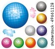 Vector collection of colored spheres. - stock photo