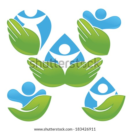 vector collection of ecological people