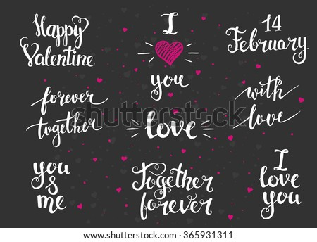 Vector collection of four cards template. Set of love.  - stock vector