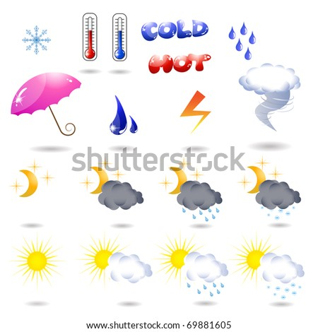 Vector collection of high quality weather icons