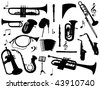 vector collection of isolated wind instruments - more available - stock photo