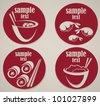 vector collection of japanese menu symbols - stock vector