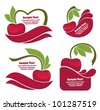 vector collection of juice stickers and cherry symbols for your text - stock vector