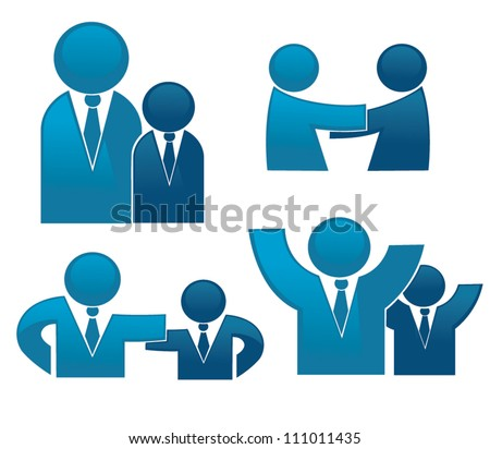 vector collection of office workers and business team - stock vector