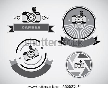 Vector collection of photography logo templates 0164 - stock vector