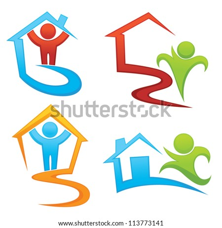 vector collection of property, development and real estate symbols - stock vector