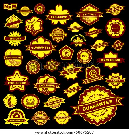 Vector collection of sale signs. Great collection. - stock vector