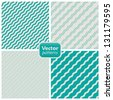 Vector Collection of 4 seamless geometric patterns. - stock vector