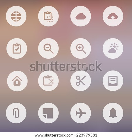 Vector collection of simple modern icons for mobile interface. Modern minimalist mobile app ui flat simple icon. Flat icon on white floating ui action button.