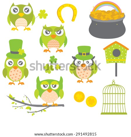 Vector Collection of St Patrick's Day - stock vector