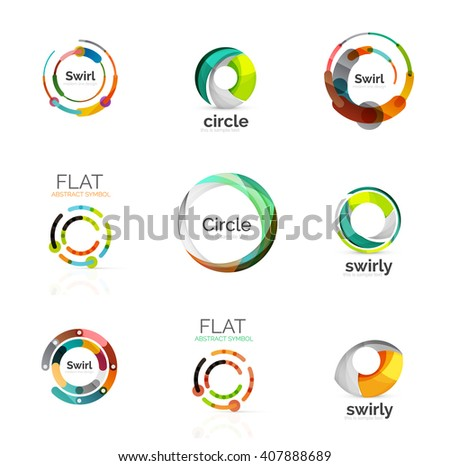 Vector collection of various circle logos - stock vector