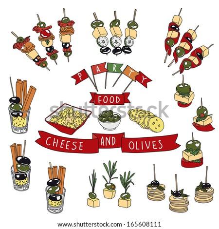 Mexican food logo labels emblems badges vectores en stock for Canape vector
