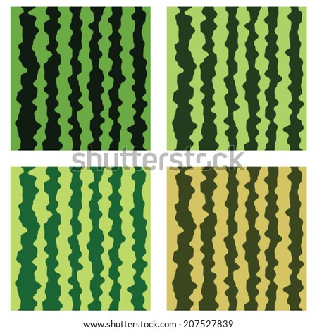 vector collection of watermelon background pattern - stock vector