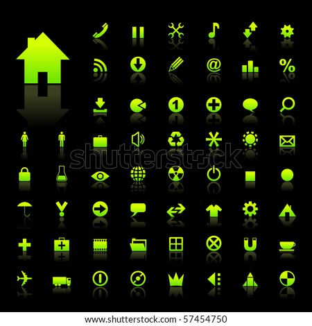 Vector collection of web icons - stock vector