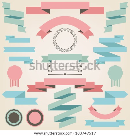 Vector collection of wedding  objects and signs. Set of holiday decorative elements isolated on white - stock vector