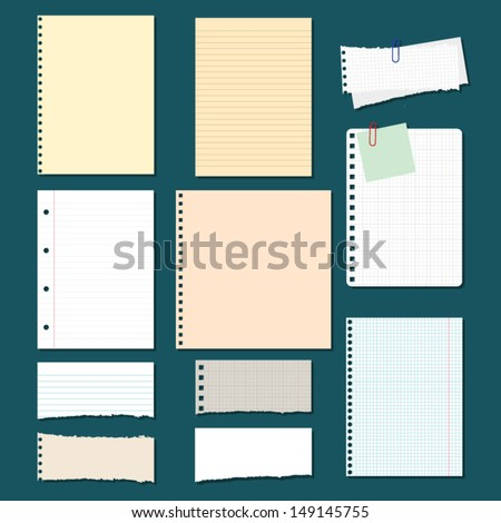 vector collection: paper - stock vector