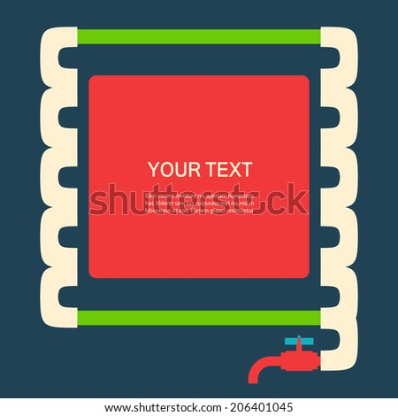 Vector color abstract design tangled pipes eps - stock vector