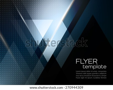 Vector color abstract geometric banner with triangle shapes - stock vector