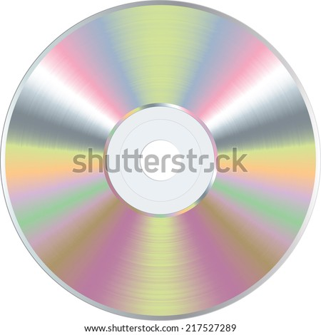 vector color blank CD or DVD disc - stock vector