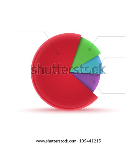 Vector color graph with space for sample text - stock vector
