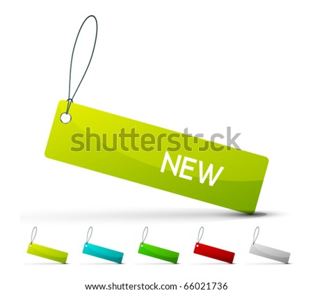 Vector color label. Eps10 icon set - stock vector