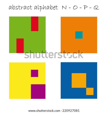 Vector color logo initial letter N, O, P, Q - stock vector