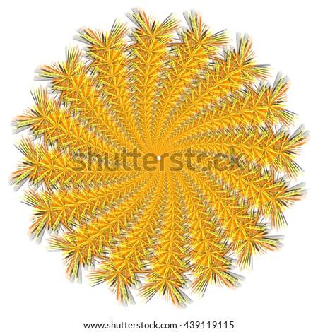 Vector color mandala.Contour spirograph, patterned design element, ethnic amulet.Doodling style. - stock vector