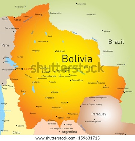 vector color map of Bolivia country