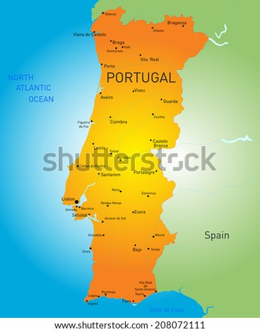 Aveiro Portugal Stock Vectors Vector Clip Art Shutterstock - Portugal map aveiro