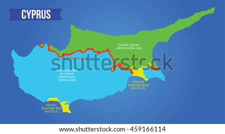 Vector color map showing districts cyprus stock vector 2018 vector color map showing the districts of cyprus all objects are located on separate layers gumiabroncs Image collections