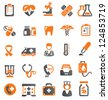 vector color medical icons set on white - stock photo