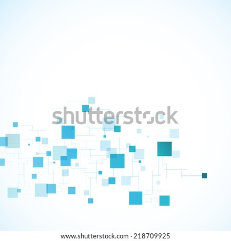 Vector color network connection and DNA atom - stock vector