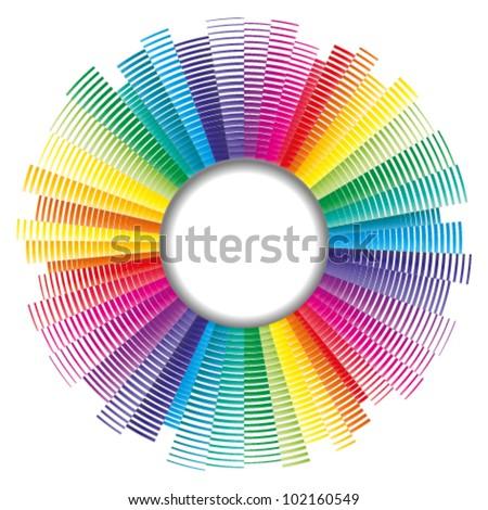 vector color palette, color spectrum - stock vector