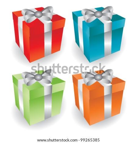 Vector color Presents - stock vector
