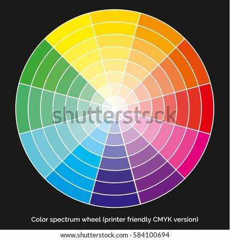 vector color spectrum itten 12color wheel stock vector 584100694 shutterstock. Black Bedroom Furniture Sets. Home Design Ideas