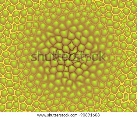 Vector color texture - yellow irregular pattern of cells