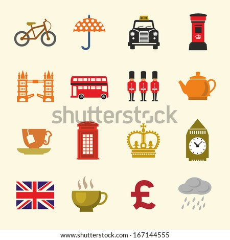 vector color uk icon set